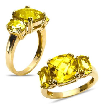 Citrin Fashion Ring in 10k Yellow Gold