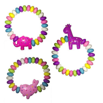 KanDi Jewelry Set of 3 Animal Cookie Bracelets