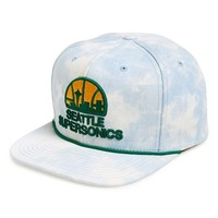 Men's Mitchell & Ness 'Seattle Supersonics' Acid Wash Snapback Hat
