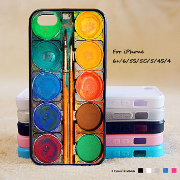 Watercolor Painting Box Phone Case For iPhone 6 Plus For iPhone 6 For iPhone 5/5S For iPhone 4/4S For iPhone 5C iPhone X 8 8 Plus