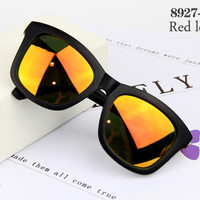 Retro Style Men Sunglasses #8927-C2 Red Lenses