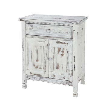 Berkshire Antique Finish 1-Drawer Accent Cabinet