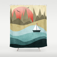 Ocean Adventure 2 Shower Curtain by Digi Treats 2 | Society6