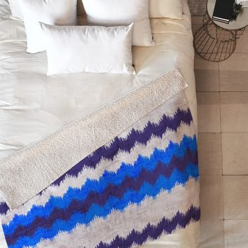 Holli Zollinger Chevron Kilim Fleece Throw Blanket