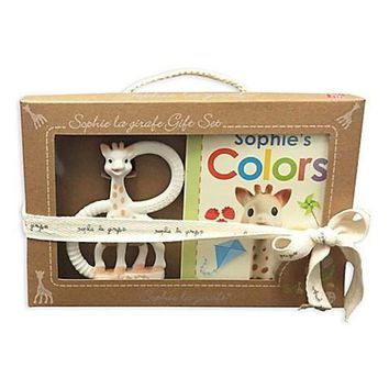 Sophie La Girafe So'Pure Teether and Sophie's Colors Book Set