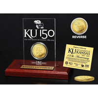 University of Kansas 150th Anniversary Gold Coin Etched Acrylic