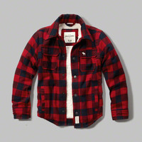 sherpa lined plaid jacket