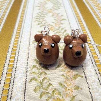 Bear earrings king of the forest earrings cute by NellinShoppi