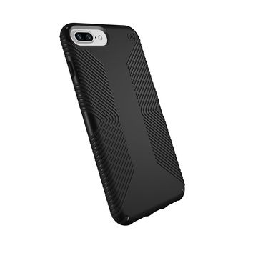 Speck Products Presidio Grip Case for iPhone 8 Plus (Also fits 7 Plus and 6S/6 Plus), Black/Black
