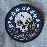 Forget Me Not - Embroidered Patch