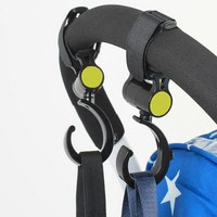 DCCKL3Z 2 PCS/LOT Baby Stroller Accessories Hook Multifunction Baby Stroller Black High Quality Plastic Hook