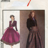 Style Sewing Pattern 1616 Corset High Waist Skirt & Bolero Jacket Size 10