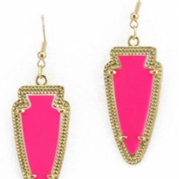 Kendra Scott Inspired Earrings in Hot Pink
