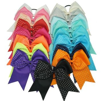 3PCS 17Colors  Rhinestone Cheer Bows