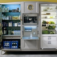 With this refrigerator, who needs a kitchen? $41,500 model has its own pantry, a coffee maker... and even a television