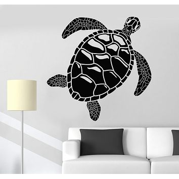 Vinyl Wall Decal Sea Turtle Ocean Animal Marine Style Stickers Unique Gift (1169ig)