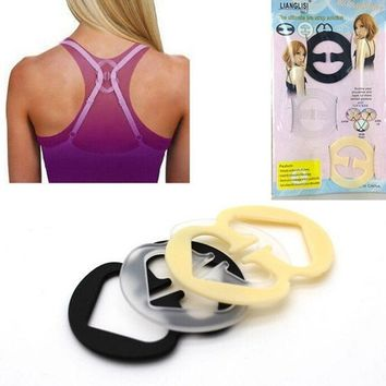 12pcs Adjust Bra Strap Clips Concealer Push Up Cleavage Control Buckle