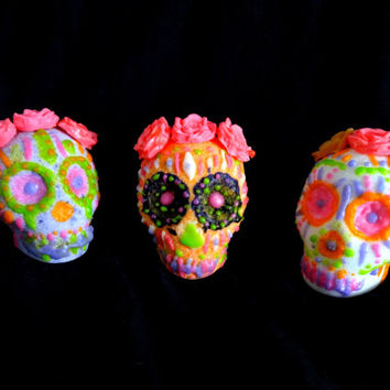 HALLOWEEN BATH BOMB / Mexican Sugar Skulls/Day-of-the Dead Fun Gift