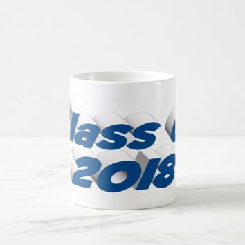 Class of 2018 3D Mug, Sea Blue Coffee Mug