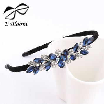 Alloy Rhinestone Bow Flower Butterfly kids Women Headband Cute Girls Blue Festival Fashion Hair Accessories Beautiful Headdress