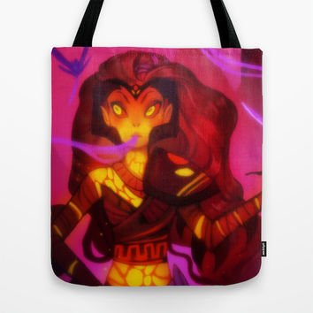 Wrathia's Story Tote Bag by Ava's Demon Print Shop!