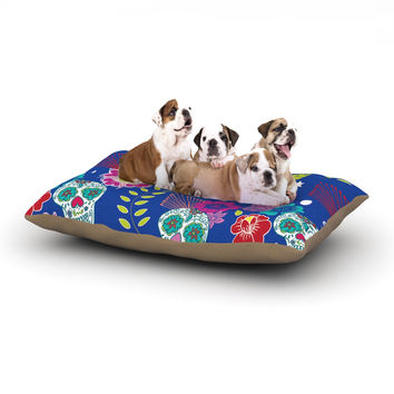 """Anneline Sophia """"Day of the Dead"""" Blue Aztec Dog Bed"""