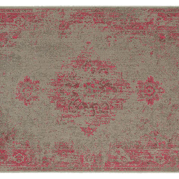 Finn Rug, Gray/Pink, Area Rugs
