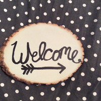 Welcome Wood Sign- front porch decor