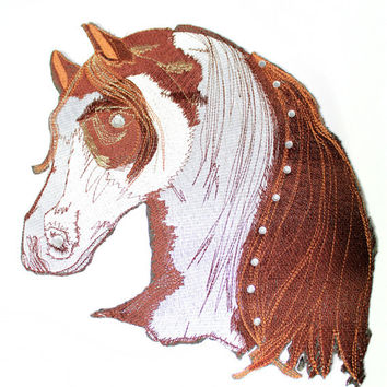 Animal Horse Fashion Iron On Patch Applique