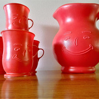 5 Piece Kool-Aid Drink Set, Kool Aid Pitcher and Cups