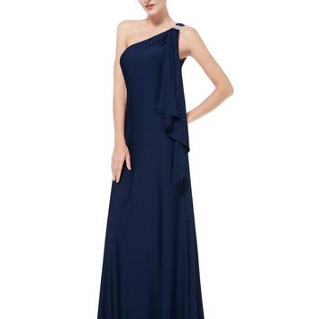 Gorgeous One Shoulder Diamantes Long Evening Dress xxxl