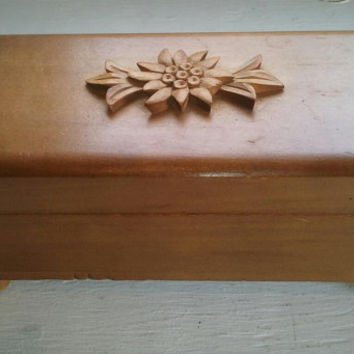 Sale, Small, Vintage, Wood, Musical, Jewelry Box