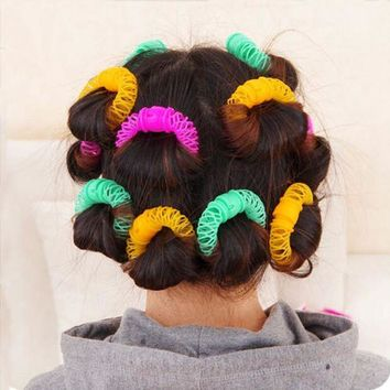 DCCKLO3 16pcs Curling Hair Foam Rollers Hair Styling Tools Roller Bendy Roller Curler Spiral Curls DIY Hair Accessories Hairdressing