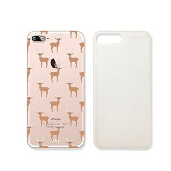 Reindeer Pattern Merry Christmas Slim Transparentt Iphone 7 Case, Clear Iphone Hard Cover Case For Apple Iphone 7Emerishop (iphone 7)