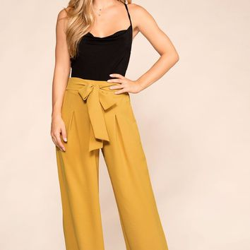 Bet On It Mustard Wide Leg Pants