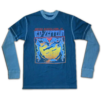 Led Zeppelin Thermal, Blue Layered Long Sleeve