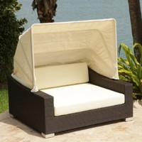 Source Outdoor Day Bed with Canopy, King, Standard