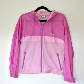 90's Pastel Pink Windbreaker // Brooks Nylon Jacket // Mesh Windbreaker // Purple Fuchsia // Drawstring // Pastel Grunge // Athleisure