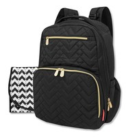 Fisher-Price® Quilted Backpack Diaper Bag