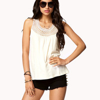 Crocheted Yoke Top | FOREVER 21 - 2052274747