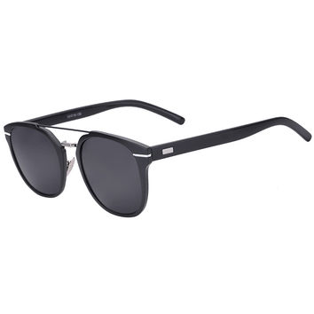 Black High Bar Detail Cat Eye Sunglasses