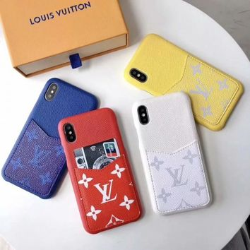 LV Monogram Card Holder Protective Phone Case - 4 Colors