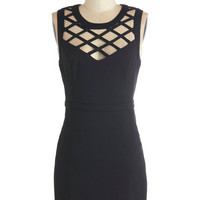 ModCloth LBD Short Length Sleeveless Bodycon Lattice and Harmony Dress