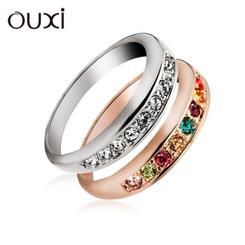 Fashion Sweet Sugar Australia Crystal Ring For Women Memorial Day Jewelry Gifts Multicolor CZ Diamond Rings Free Shipping