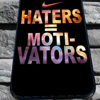 Nike Haters Motivation Custom for iPhone 4/4s/5/5S/5C/6, Samsung S3/S4/S5 Unique Case *95*