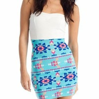 aztec body con tube dress $27.10 in BLUE ORANGE - New Shoes | GoJane.com
