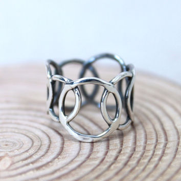 Bubble Bubble Ring/ Silver ring/ Handmade Silver Ring/ Hammered ring