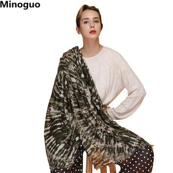 Minoguo Fashion Leopard Scarf for Women Ladies Cotton Shawl Scarves Big Large Long Pashmina Wraps Stole Bandana for Hijab 6color
