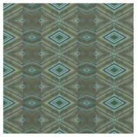 Olive green Turquoise Diamond Pattern Fabric