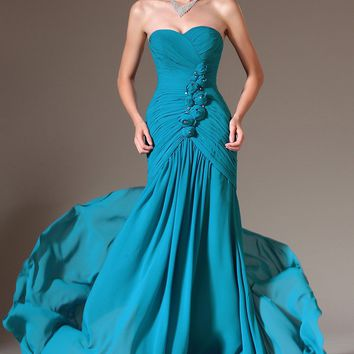 Candy Teal Prom Dress